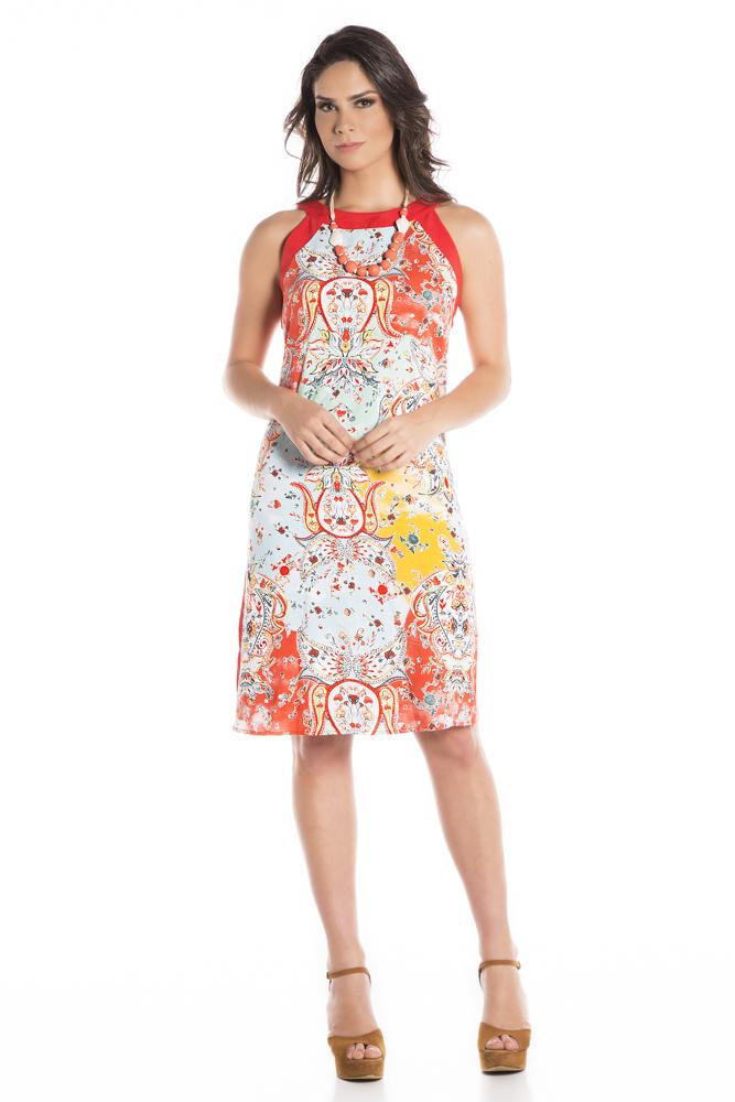 Vestido viscose cava americana laranja entretons jpg 667x1000 Cava americana 308f9bce9ca6